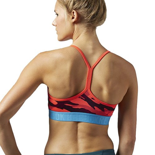 Biustonosz Reebok Workout Print Short Bra stanik top treningowy