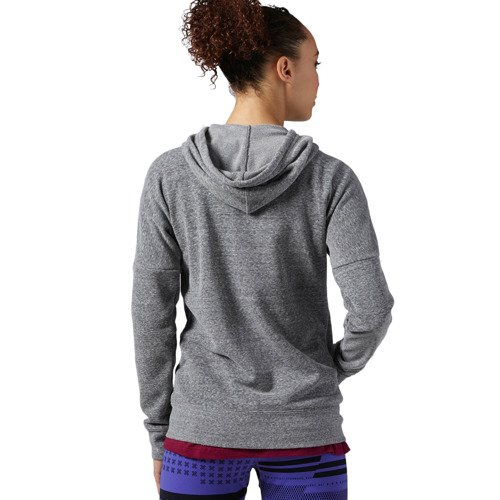 Bluza Reebok Elements Logo damska dresowa rozpinana sportowa z kapturem