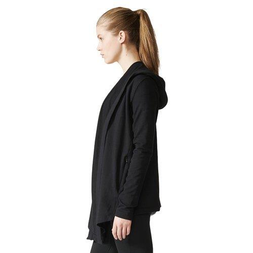 Bluza sportowa Adidas Wrap Me Up damska dresowa narzuta termoaktywna z kapturem