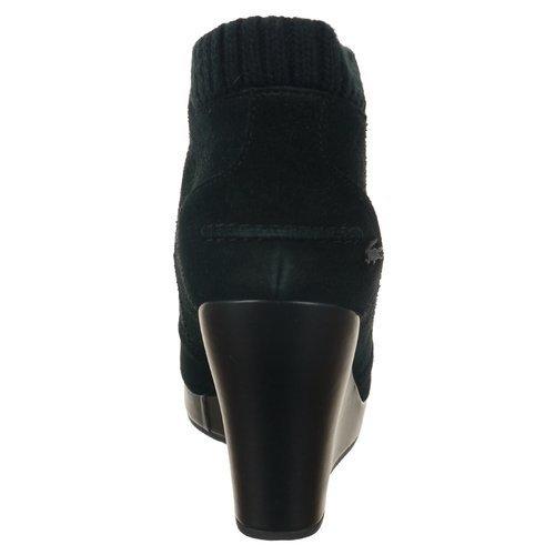 Buty Lacoste Leren 4 SRW damskie sportowe botki skórzane zamszowe na koturnie