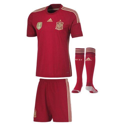 Komplet piłkarski Adidas Hiszpania męski strój koszulka + spodenki + getry