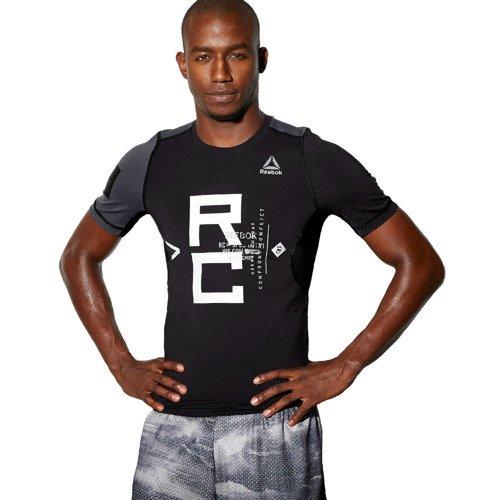 Koszulka Reebok Combat SS Rash Guard męska kompresyjna sportowa termoaktywna