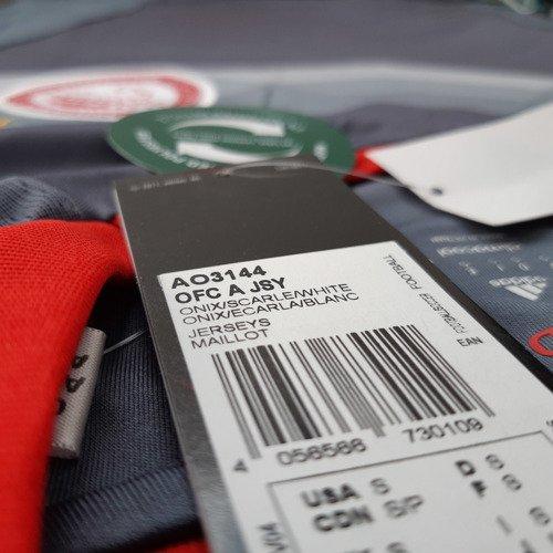 Koszulka piłkarska Adidas FC Olympiakos męska t-shirt wyjazdowy meczowy termoaktywny