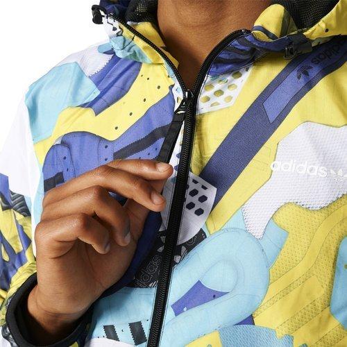 Kurtka Adidas Originals Montage AOP Windbreaker męska sportowa wiatrówka z kapturem