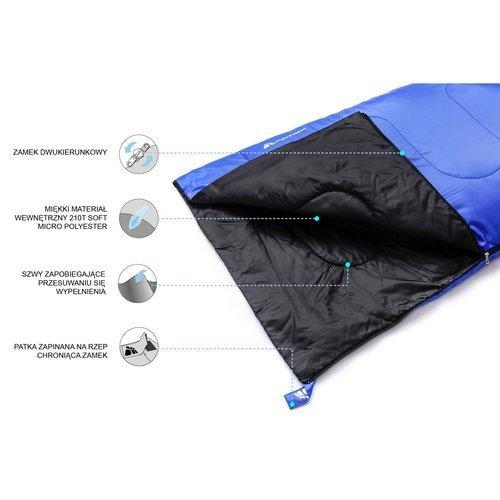Śpiwór Meteor Dreamer dwusezonowy prawostronny kołdra pod namiot