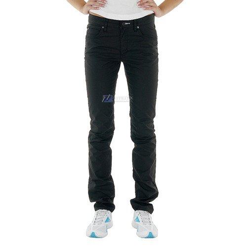 Spodnie Adidas Cupie Fit damskie proste bawełniane czarne