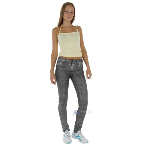 Spodnie Adidas Originals Women's Easy Five damskie jeansowe rurki szare