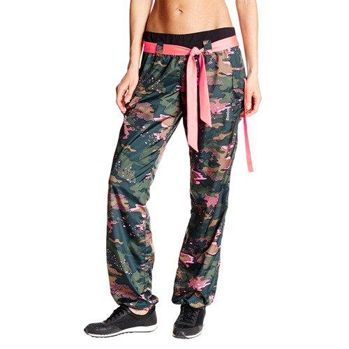 Spodnie Reebok Dance Camo damskie moro bojówki sportowe fitness do tańca