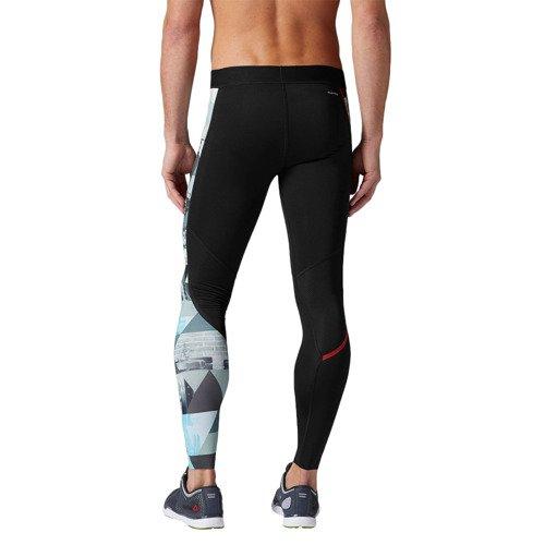 Spodnie Reebok One Series Elite męskie getry kompresyjne termoaktywne